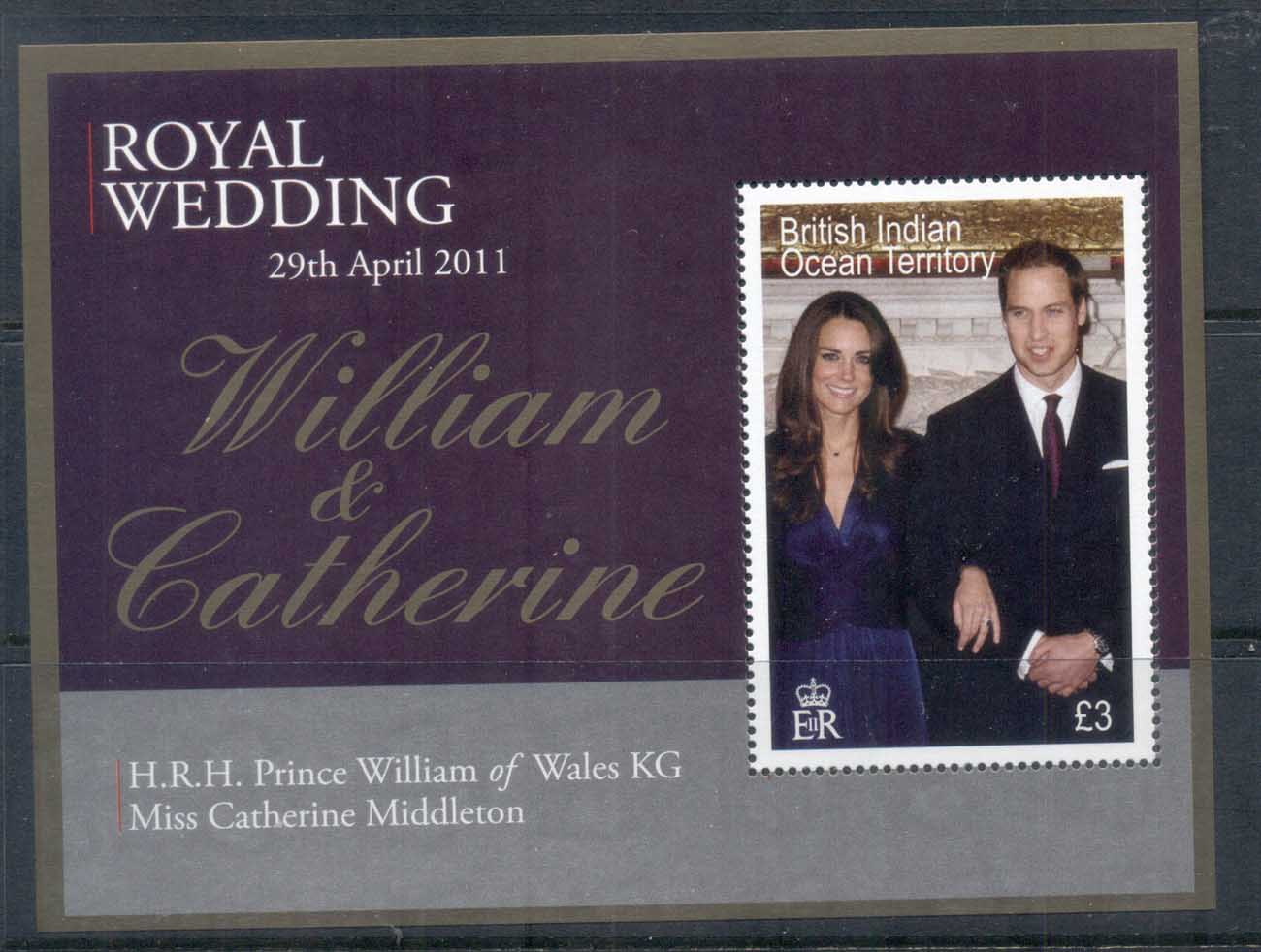 BIOT 2011 Royal Wedding William & Kate MS MUH