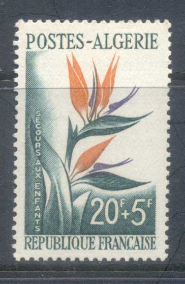 Algeria 1958 Bird of Paradise Flower MUH
