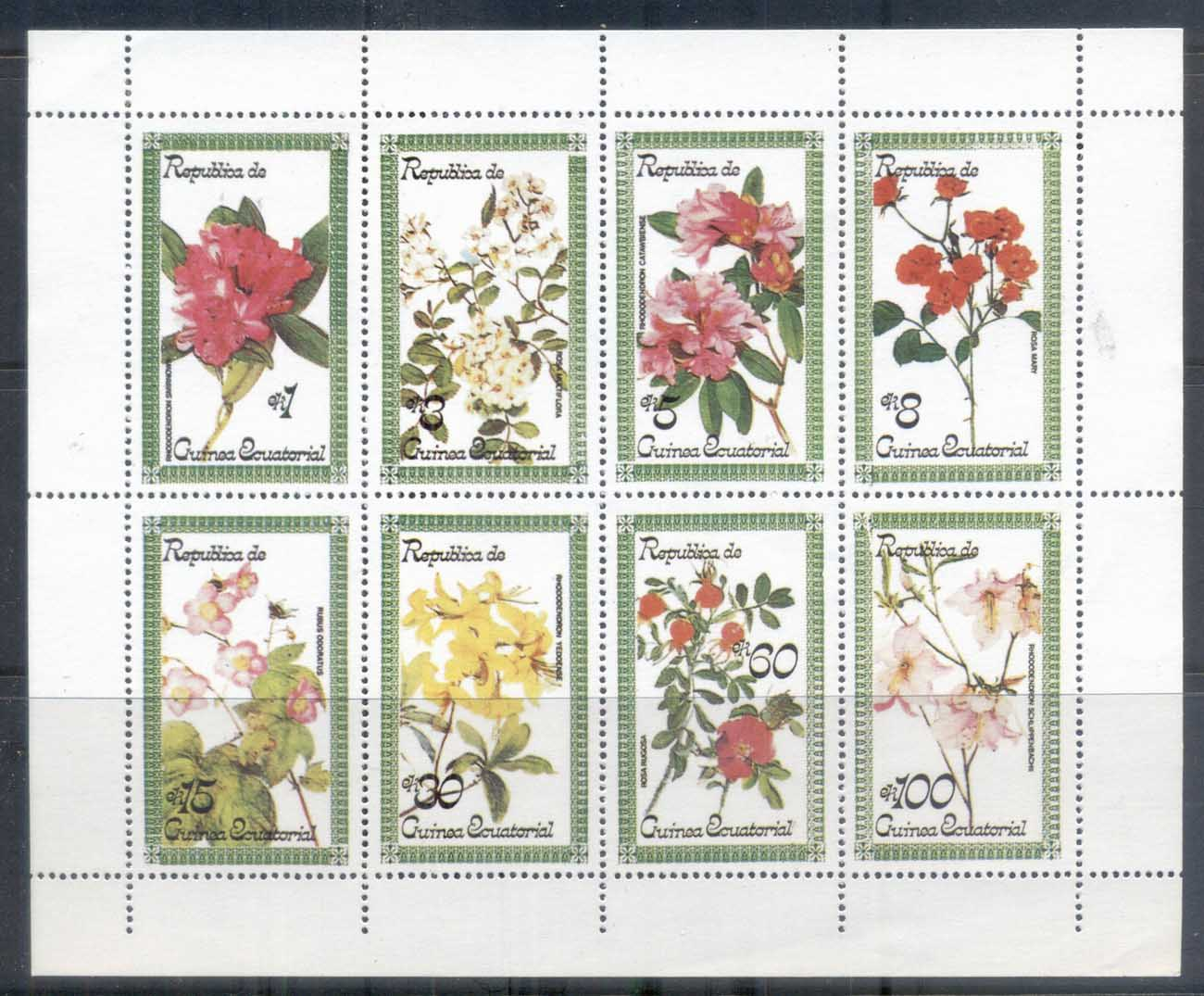 Equatorial Guinea 1974 Flowers sheetlet MUH