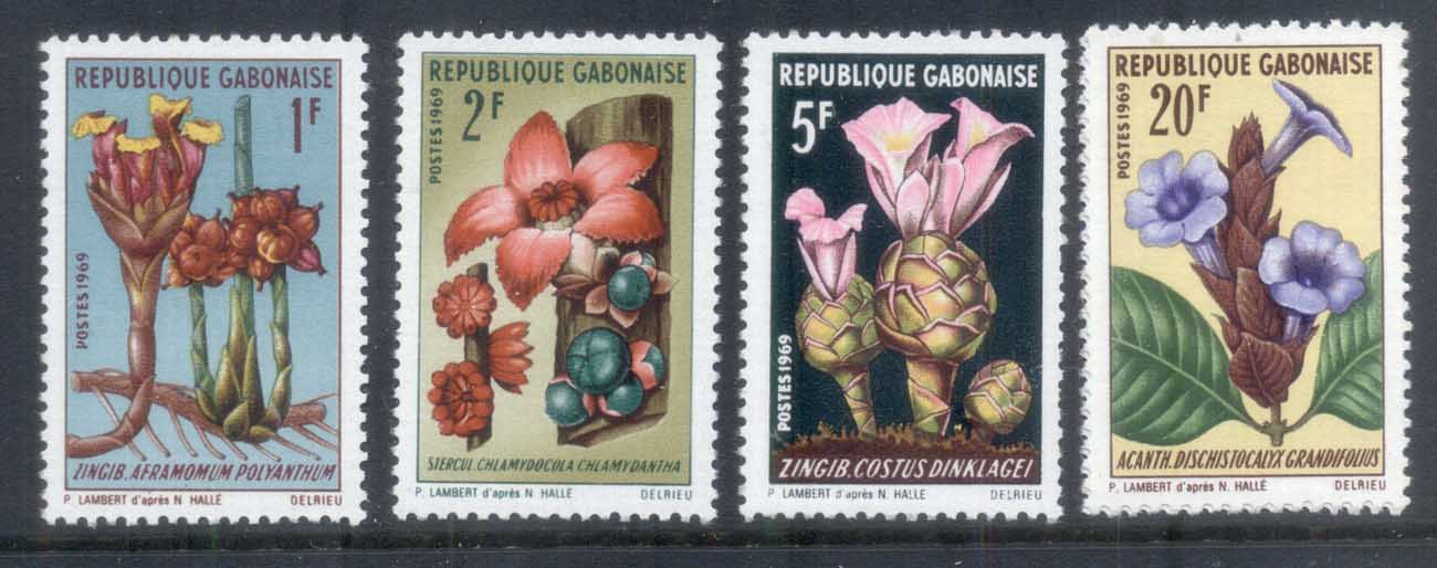 Gabon 1969 Flowers (4/5, no 10f) MUH