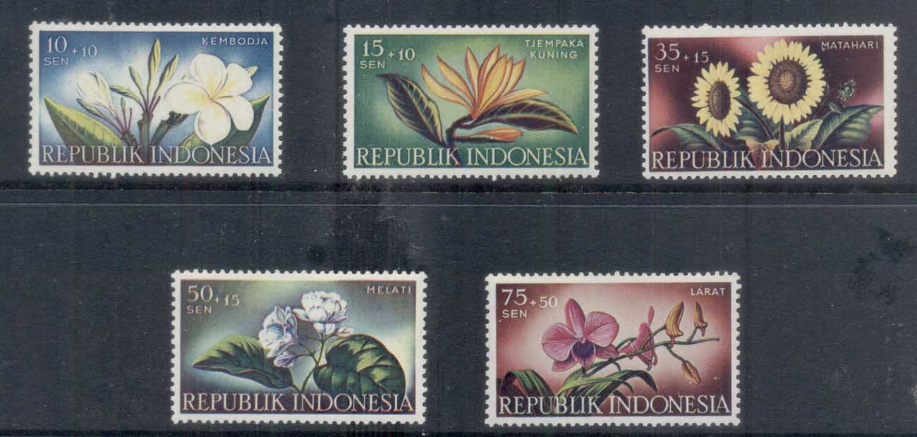Indonesia 1957 Flowers MLH