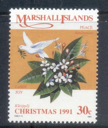 Marshall Is 1995 Xmas, Flowers MUH