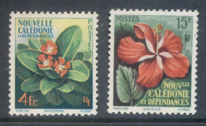 New Caledonia 1958 Flowers MLH