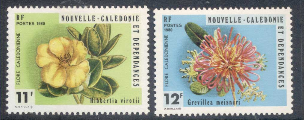 New Caledonia 1980 Native Flowers MUH