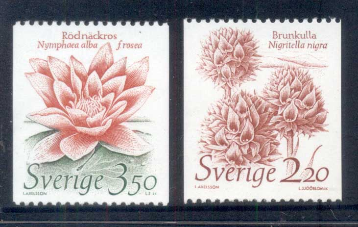 Sweden 1985 Conservation, Flowers, colis MUH
