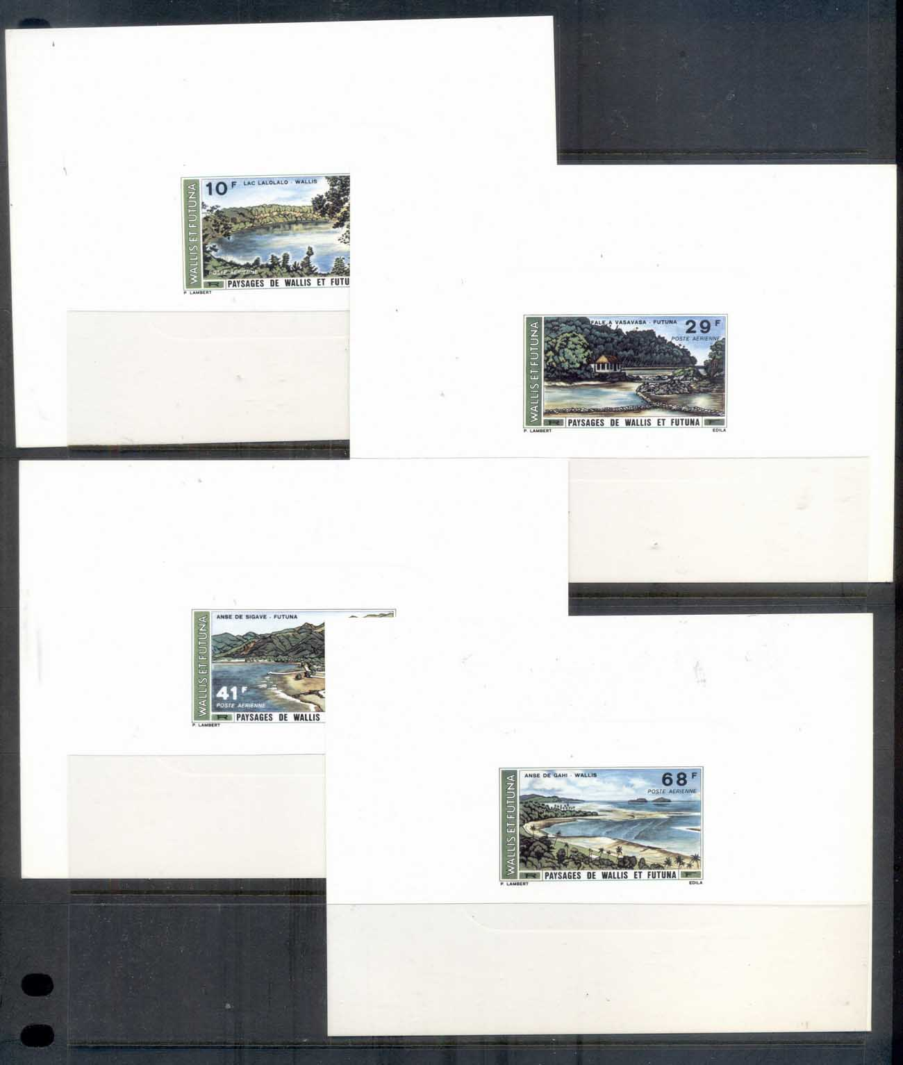 Wallis & Futuna 1975 Landscapes, proof on card 6x MUH