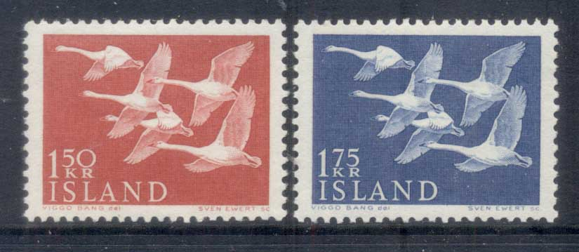Iceland 1956 Birds, Whooper Swans MLH