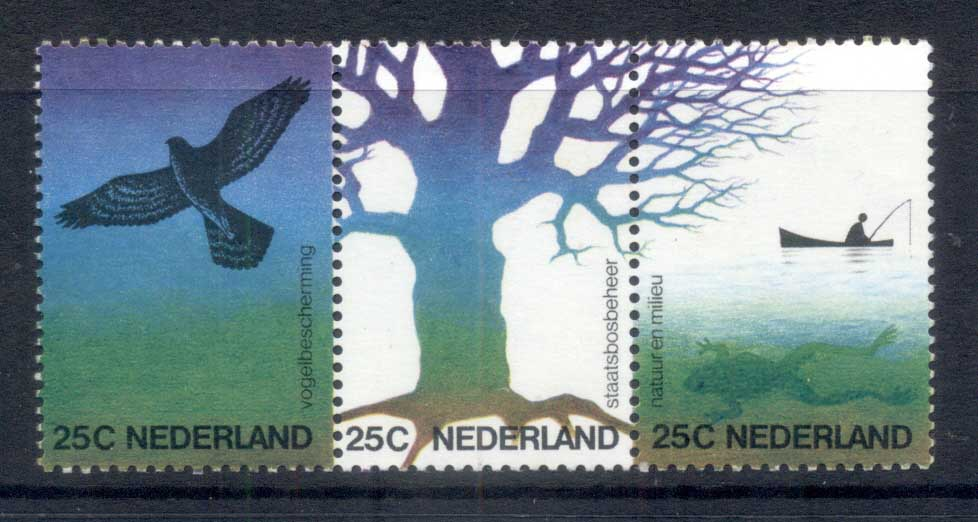 Netherlands 1974 Nature & Environment, bird str3 MUH