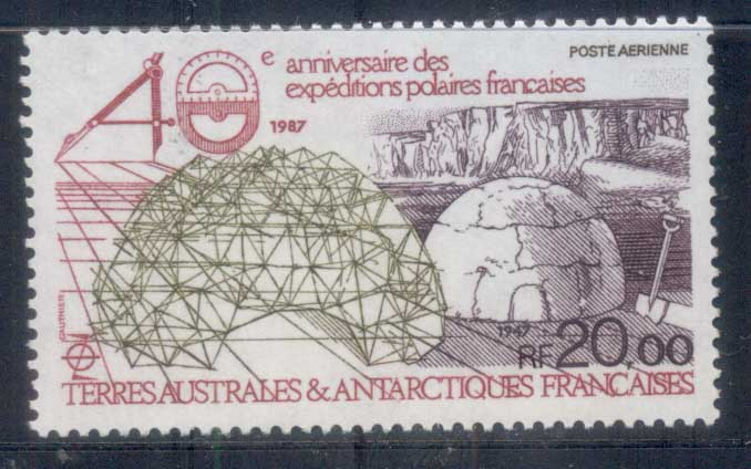 French Antarctic Territory 1988 French Polar Expeditions MUH