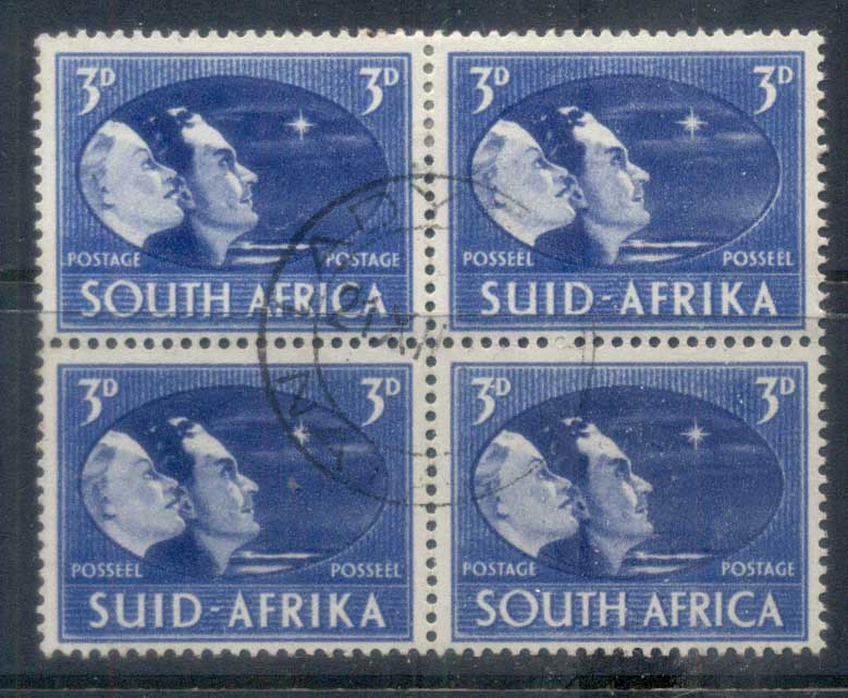 South Africa 1946 Victory 3d blk4 FU