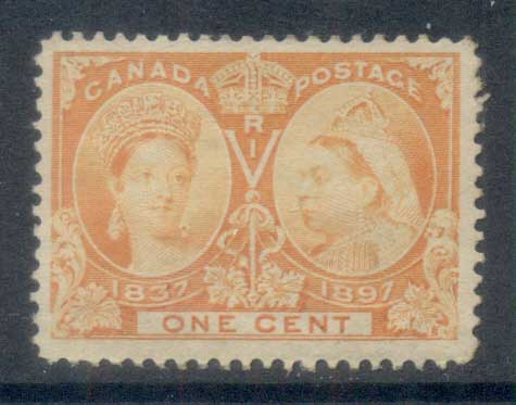 Canada 1897 QV Jubilee 1c orange part OG