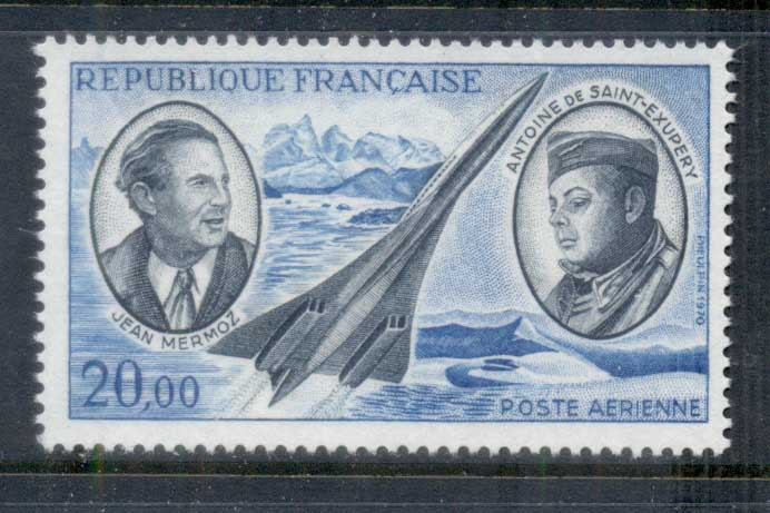 France 1970 Airmail, Mermoz, Concorde