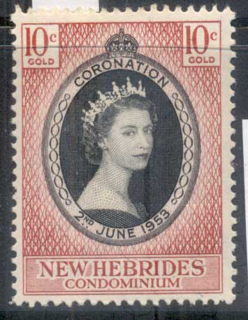 New Hebrides (Br) 1953 QEII Coronation MLH