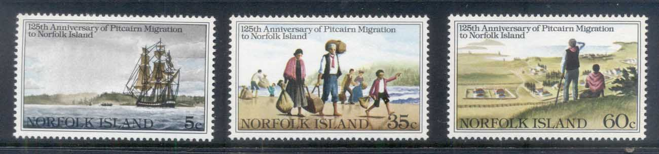 Norfolk Is 1981 Migration to Norfolk 125th Anniv. MUH