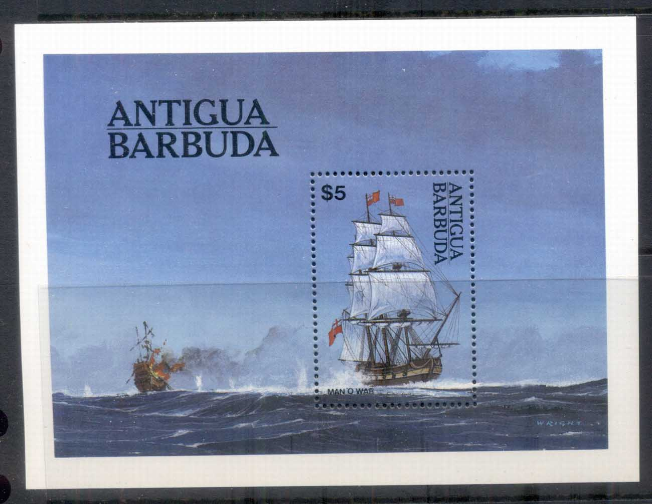 Antigua & Barbuda 1984 Sailing Ships, Man of War MS MUH
