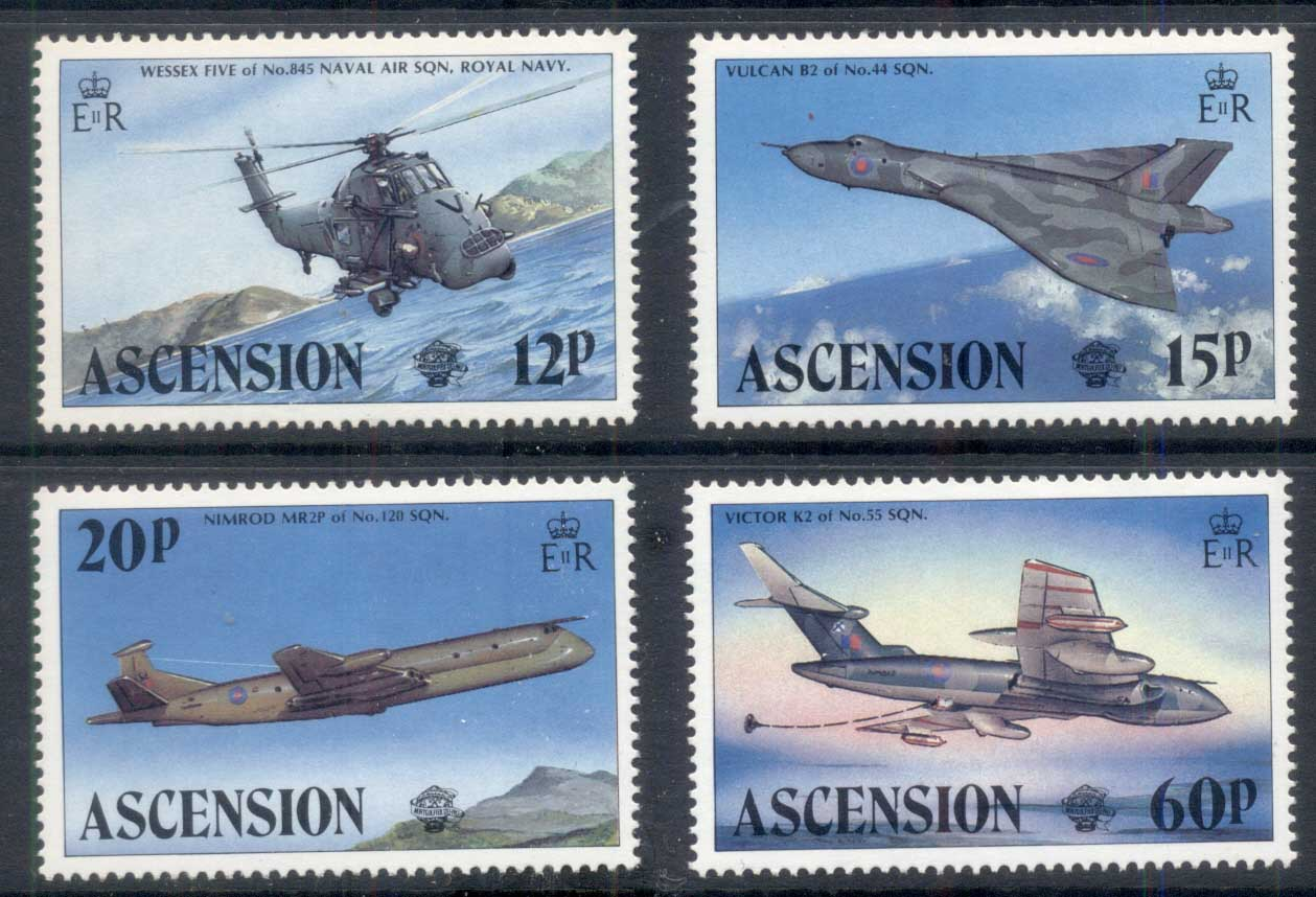 Ascension Is 1983 Manned Flight Bicentenary, Airplanes MUH