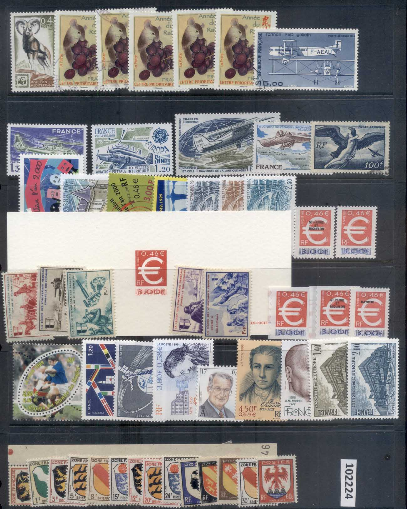 France 1940's on Assorted Oddments, occupation MLH/MUH/FU