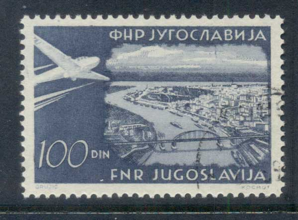 Yugoslavia 1951 Air Mail 100d FU