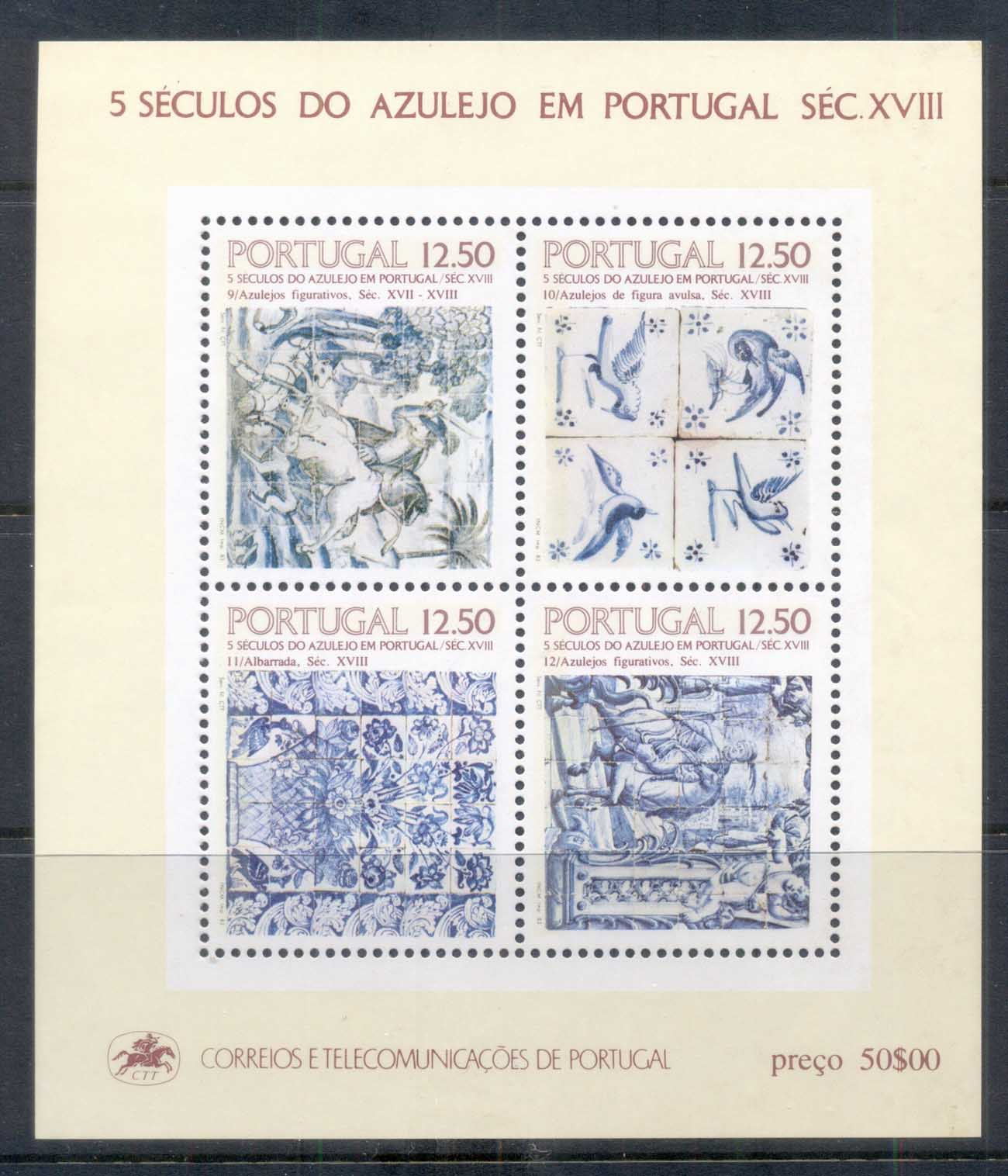 Portugal 1983 Tiles MS MUH