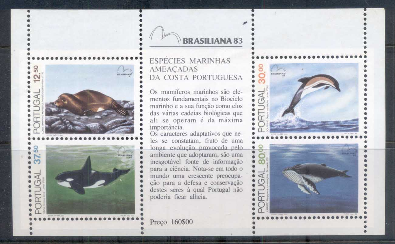 Portugal 1983 Endangered Sea Mammals MS MUH