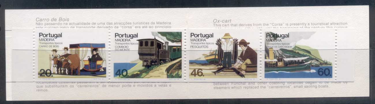 Madeira 1985 Transportation booklet MUH