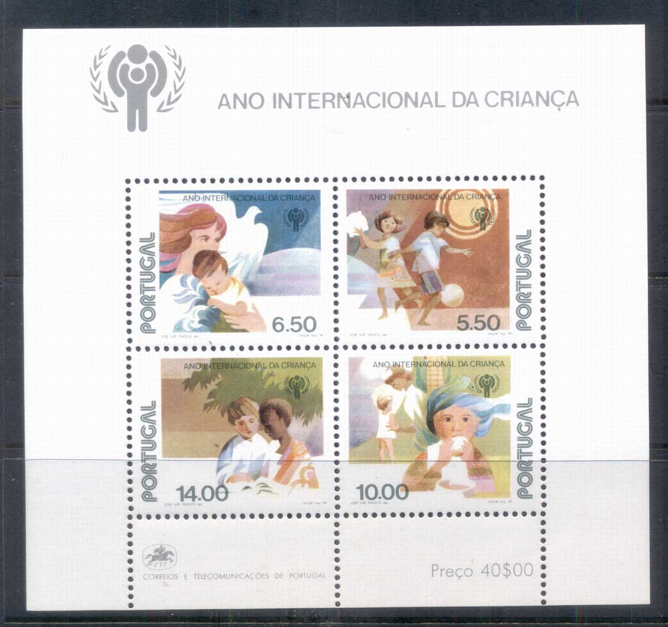 Portugal 1979 IYC Intl. Year of the Child MS MUH