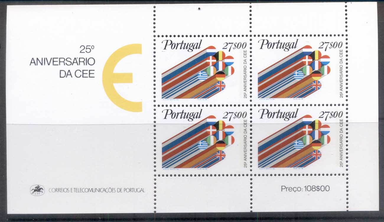 Portugal 1982 EEC 25th Anniv. MS MUH