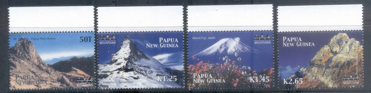 PNG 2002 Intl. Year of the Mountains MUH
