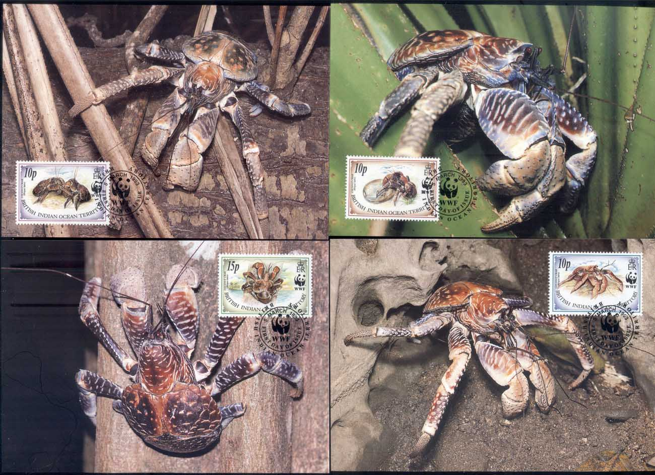 BIOT 1993 WWF Coconut Crabs Maxicards