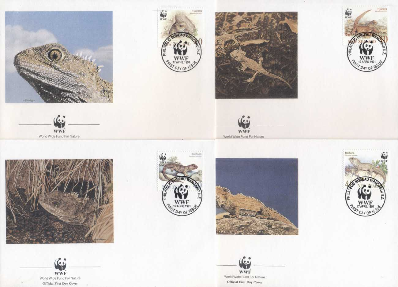 New Zealand 1991 WWF Tuatara, Reptile FDC