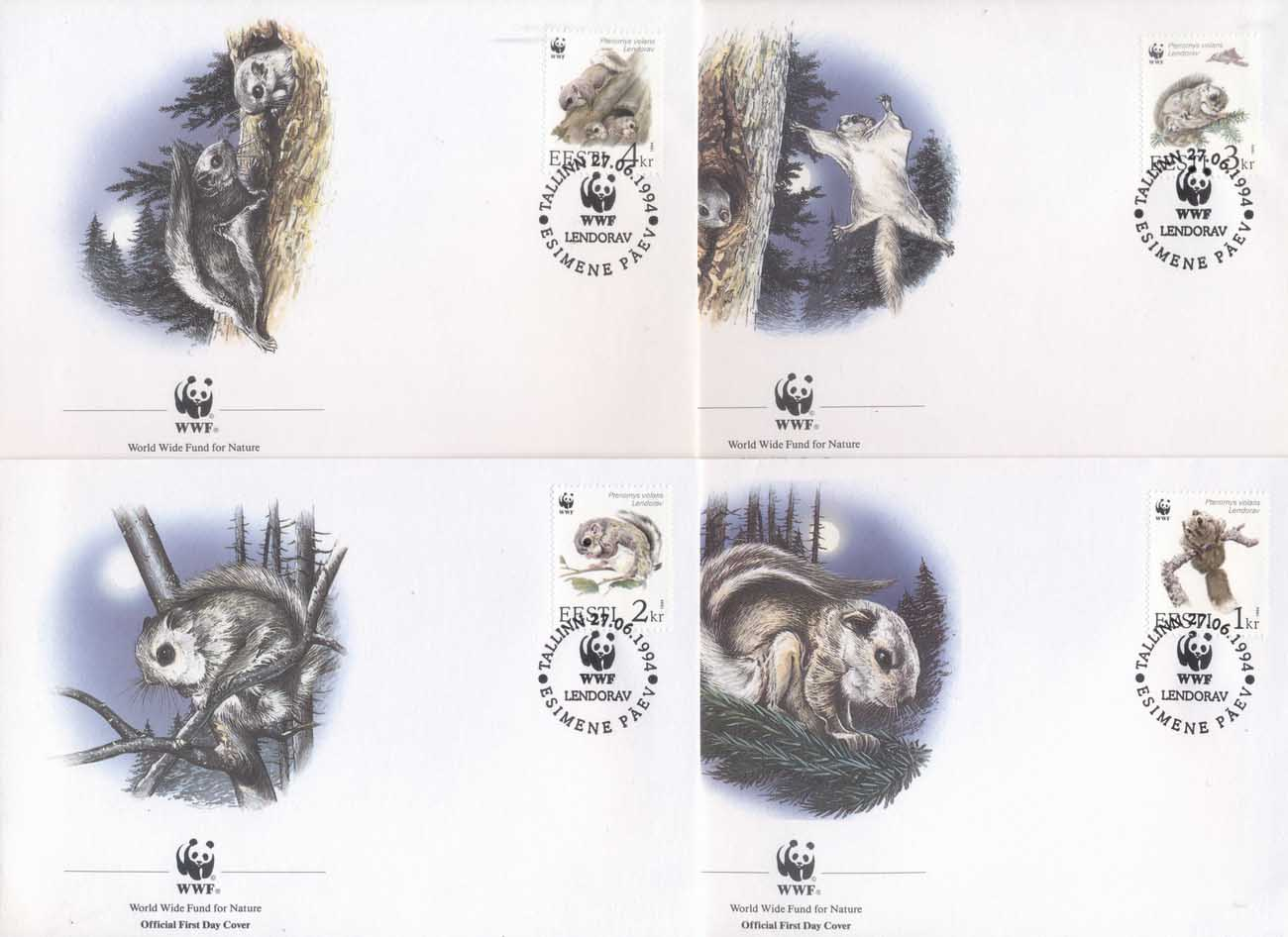 Estonia 1994 WWF European Flying Squirrel FDC