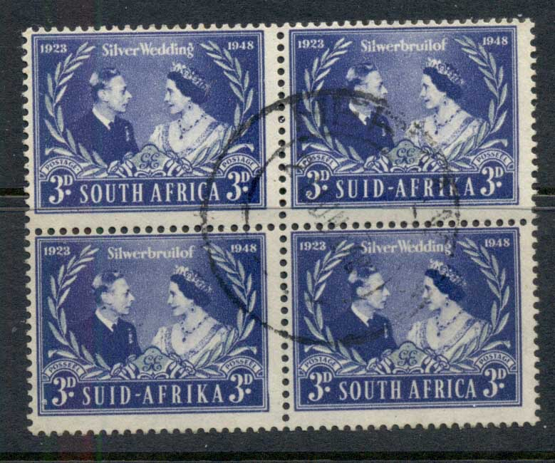 South Africa 1948 Silver Wedding blk4 FU