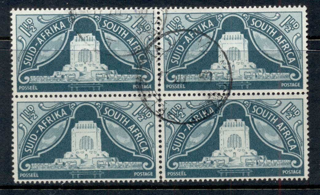 South Africa 1949 Vortrekkers 1.5d blk4 FU