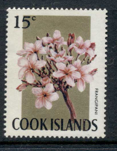 Cook Is 1967-69 Pictorials, Flowers 15c Frangipani MUH