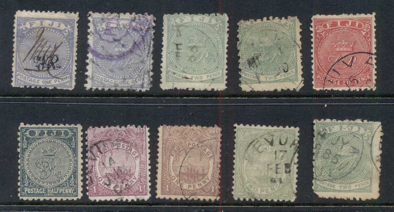 Fiji 1870's on Assorted Oddments FU