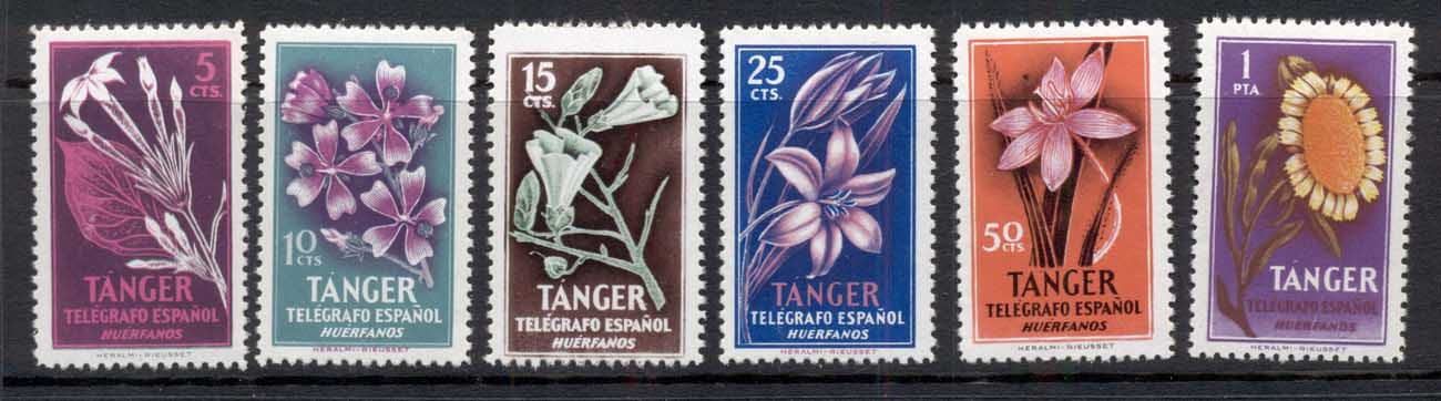 Tangier 1946 Telegraph, Flowers MUH - Click Image to Close