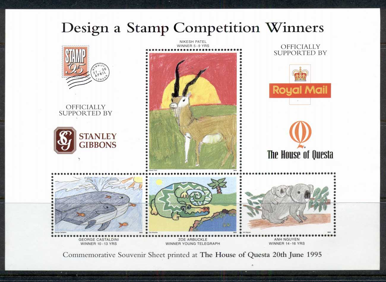GB 1995 Design a Stamp Competition Winners MS MUH