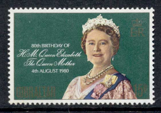 Gibraltar 1980 Queen Mother 80th Birthday MUH