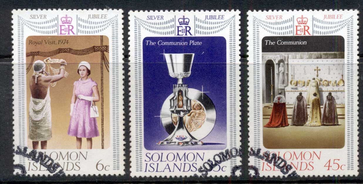Solomon Is 1977 QEII Silver Jubilee FU