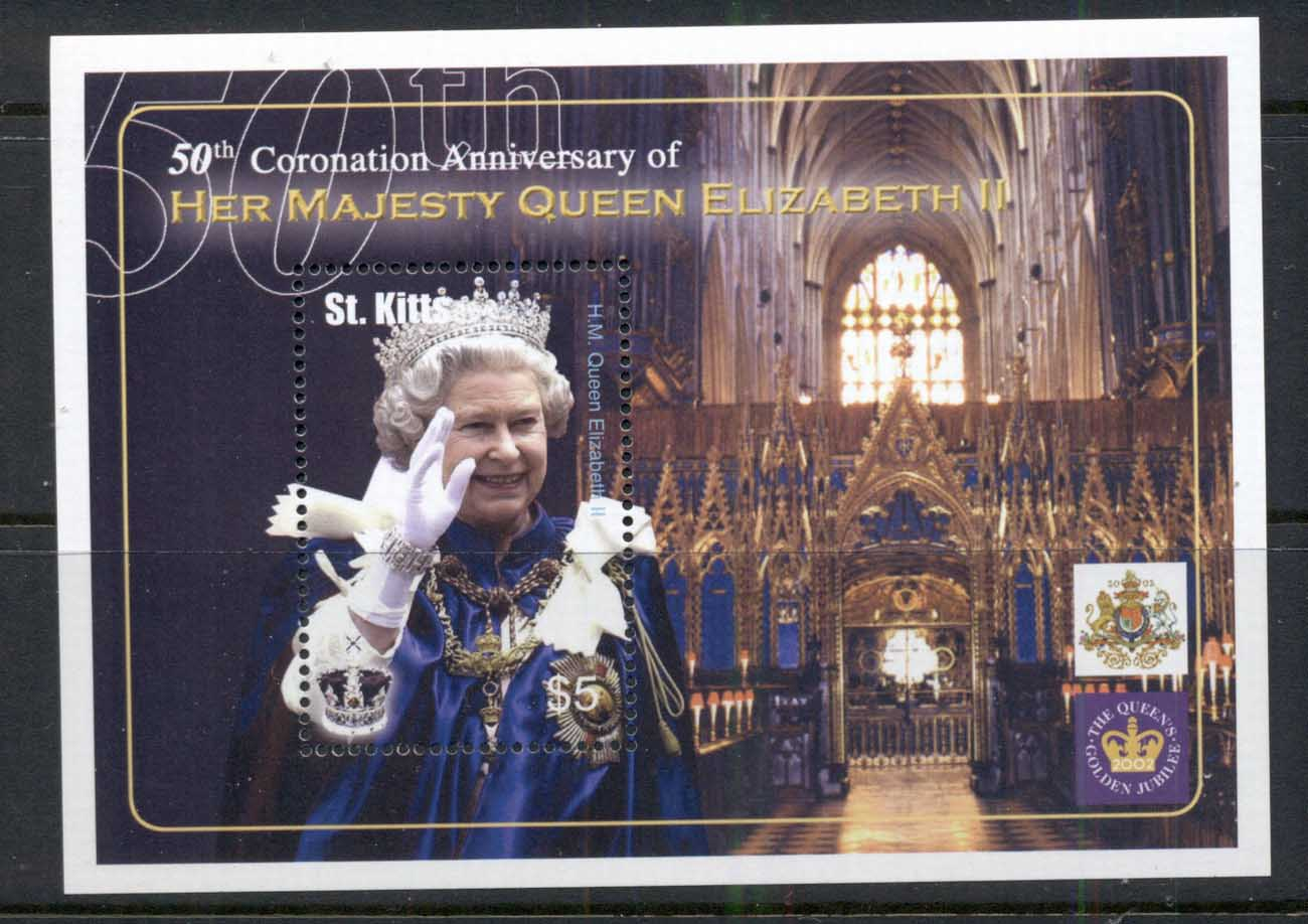 St Kitts 2003 QEII Coronation 50th Anniv. MS MUH