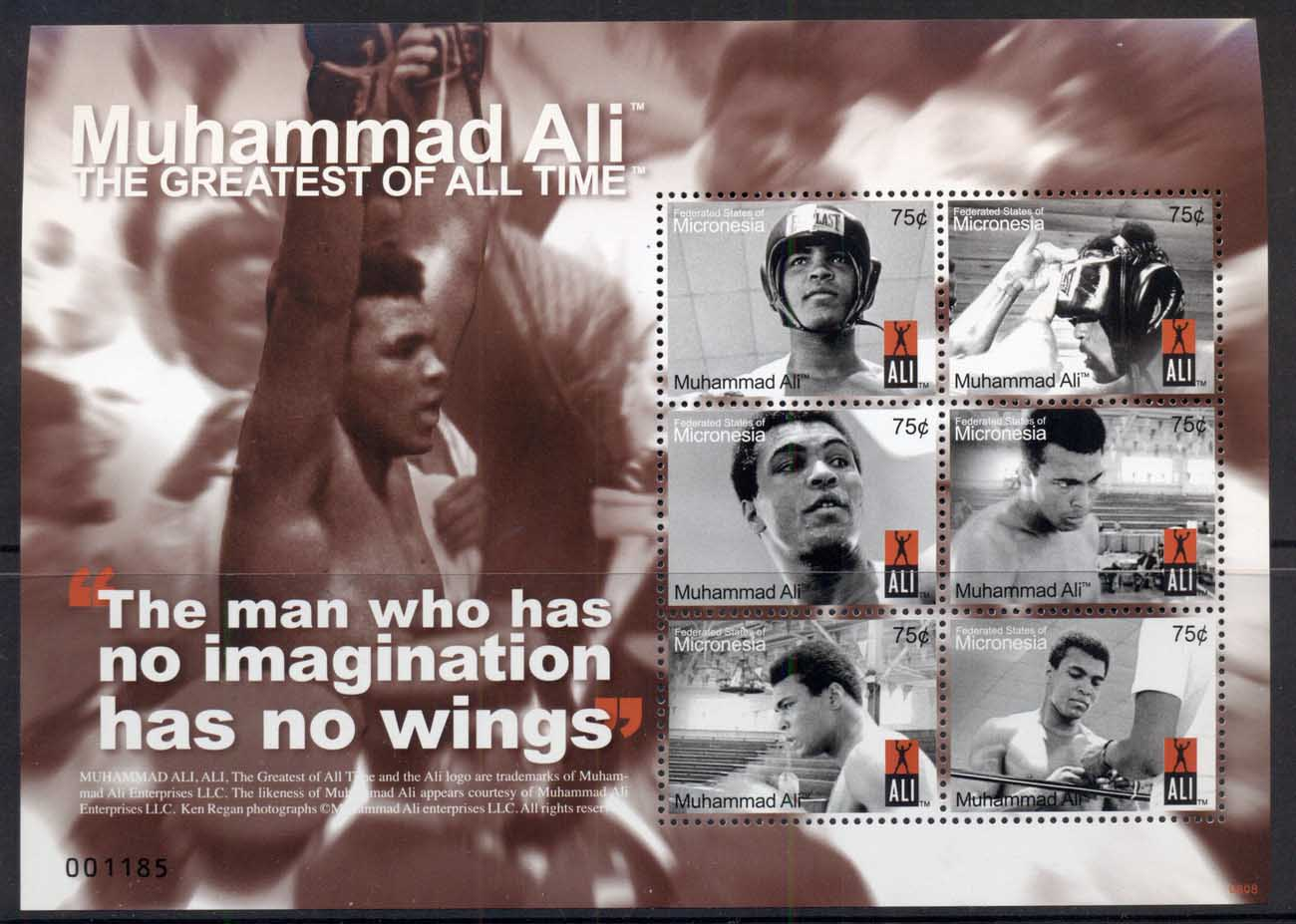 Micronesia 2008 Muhammad Ali, The Greatest of All Time MS MUH