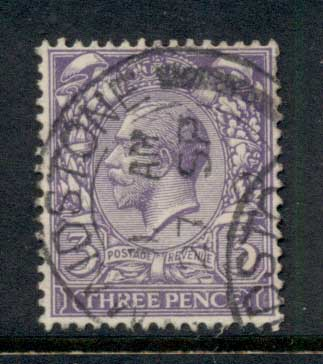 GB 1912-13 KGV Portrait 3d purple FU