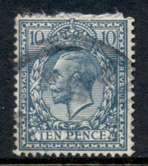 GB 1912-13 KGV Portrait 10d blue FU