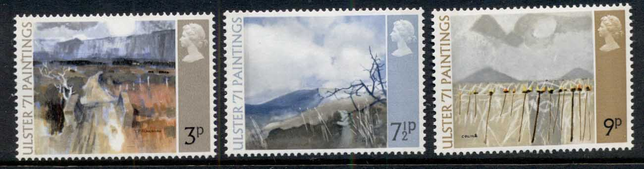 GB 1971 Paintings from Northern Ireland MUH