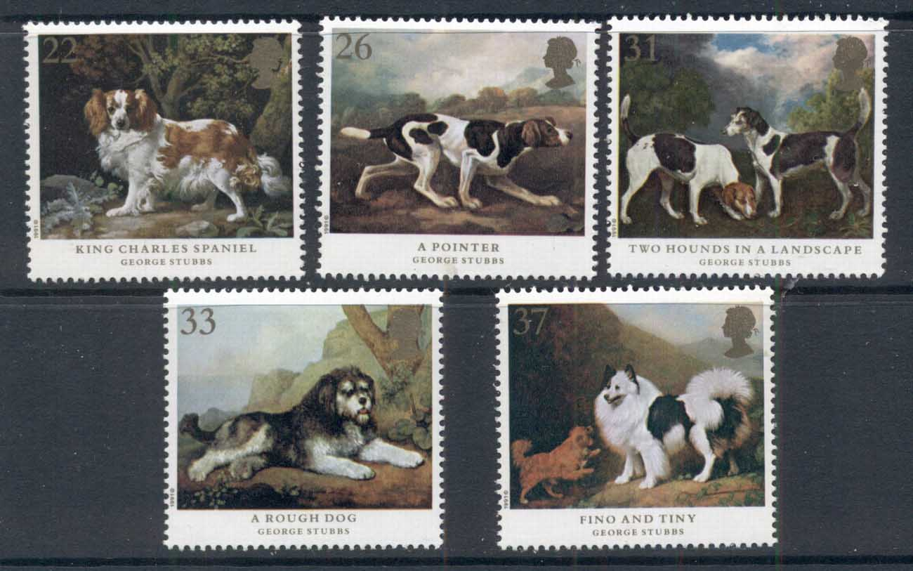 GB 1991 Dog Paintings MUH