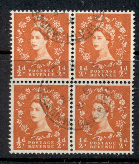 GB 1957-59 QEII Wilding Graphite ?d blk 4 FU