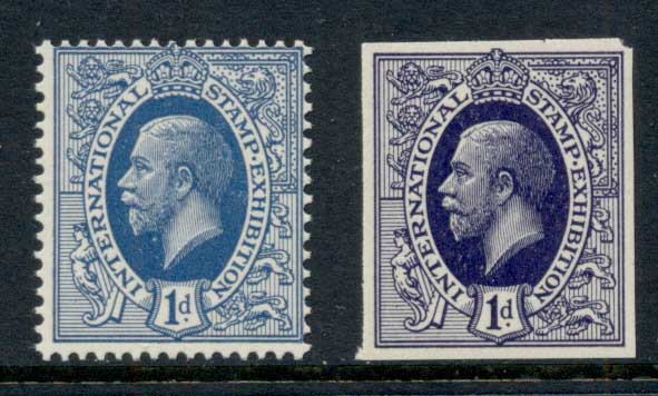 GB 1929 Intl Stamp Exhibition 2v MUH