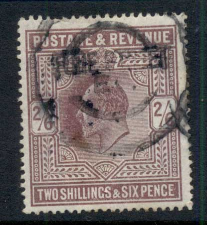 GB 1902-11 KEVII 2/6d dull purple FU