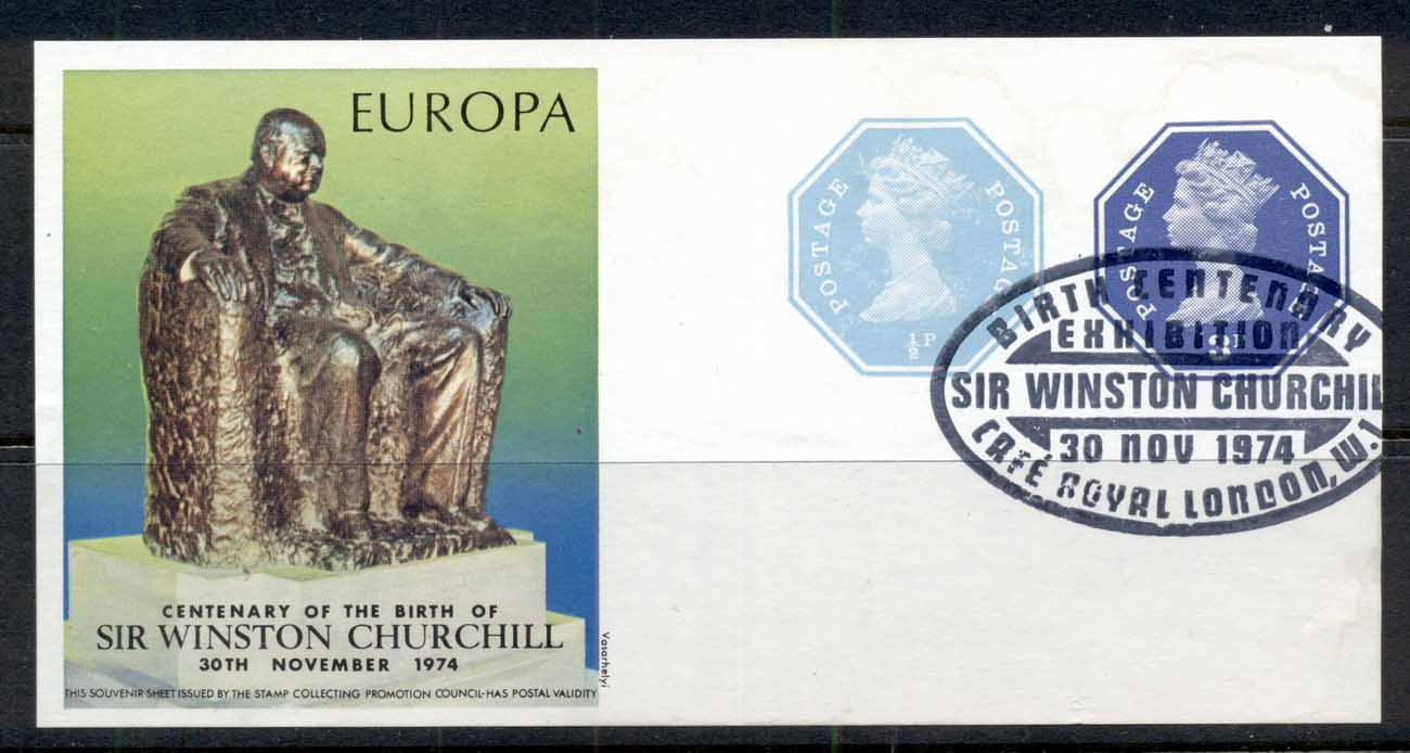 GB 1974 Europa, Churchill Birth cent Ms FU