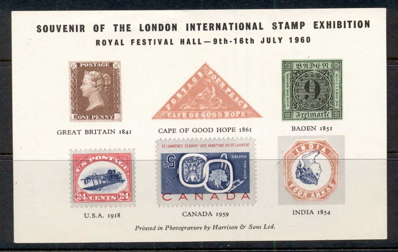 GB 1960 Stamp Exhibition MS